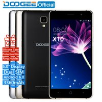 Wholesale Smart Dual Sim Cellphone - In Stock Now DOOGEE X10 mobile phones 5.0Inch IPS 8GB Android6.0 smart phone Dual SIM MTK6570 5.0MP 3360mAH WCDMA GSM cellphone