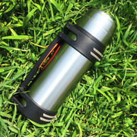 Wholesale Thermos Flask Large Capacity - Travel Vehicle-mounted water bottle Stainless steel vacuum cup Male Thermos flask household Outdoor Large capacity 1.8L