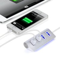 High Performance LED Alluminio Computer HUD Hub USB a 4 porte in alluminio per iMac / MacBook / MacBook Pro / Air / Mini / PC WIN 7/8
