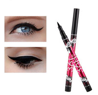 Wholesale using makeup resale online - 2017 Newest H Waterproof Liquid Black Eyeliner Pencil Skid Resistant Eye liner Pen For Cosmetics Makeup Home Use Colors DHL Free