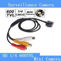 "Wholesale Smallest Hd Cctv Camera - Smallest Mini 600TVL 1   4"" HD Sensor Cone Pinhole CCTV Camera Hidden for Home Security Video Surveillance   CCTV camera"