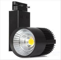 piste lumineuse led achat en gros de-Super lumineux 30W COB Led Track Light 2016 TrackLight haute puissance Spotlight pour magasin de vêtements piste de magasin Spot d'éclairage haute luminosité