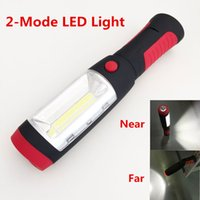 Wholesale Hanging Led Pool Light - Wholesale-2 Modes Red Portable Lantern Emergency LED Camping Lantern Waterproof Hand Flash Light Mini Torch Hanging Lamp With Magnets