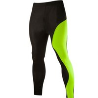 Wholesale Mens Outdoor Clothing Wholesale - Wholesale-Spendex Mens Sports Trousers Compression Pants Gym Clothing Joggers Running Pants Outdoor Fitness Base Layer Pants for Men