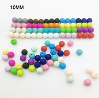 Wholesale Wholesale Silicone Teething Beads - Lot of 1000 Rainbow 10 mm Silicone Beads for Teething Necklaces!