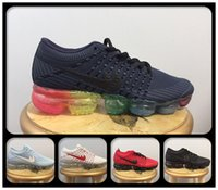 2018 High Quality Air Cushion Hombres Mujeres Zapatos para correr Negro / Rojo / Gris / Púrpura / Mint Rainbow Unisex VapormaXes KPU Athletic Sneakers para la venta