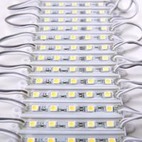 arka ışıklı ledli tabelalar toptan satış-DC12V 5050 5 LEDs LED Modülleri ışıkları IP65 su geçirmez, LED Burcu Arka Modülleri, Reklam Işık Kutusu Modülleri, 20 Adet / grup
