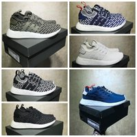 Wholesale Blue Wonder Black - NMD R2 Triple White Two-Toned Pack Core Red Wonder Pink Triple Black Trace Cargo Olive Shoes Mens Womens Size 36-45