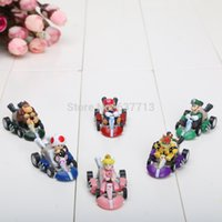 Super Mario Bros Kart PULL BACK Car Figures 10 set (6pcs / set) venda nova chegada quente