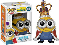 Wholesale Despicable New - New hot sale FUNKO Pop Despicable Me Minions king Bob Minions Boxed PVC Collection 12CM gift for children
