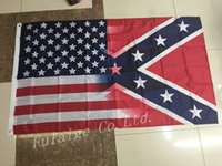 Wholesale 90x150cm American Flag with Confederate Rebel Civil War Flag new style hot sell x5 fr
