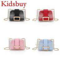 Wholesale Childrens Girls Bags - Kidsbuy Newest Style Sholder Bags for Childrens Baby Girls PVC design Messenger Bag Cute Purse for shopping Kids Birthday gift bags KB037