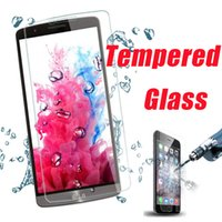 Wholesale 9H Hardness Tempered Glass Screen Protector Protective Film Guard For iPhone Plus S Samsung S6 Edge A8 HTC M9 SONY Z5 Premium MOQ