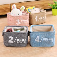 New Baskets De Armazenamento Atacado Desktop Cutlery Basket Storage Box Organizador De Cosméticos Household Foldable Sundries Furnishing Bins 404516344