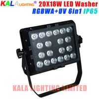Alta luminosidad UV color al aire libre de la ciudad de la pared de la lavadora 20X18W RGBWA + UV 6in1 LED Wash Light