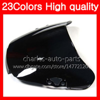 Wholesale Clear Windshield - 23Colors Motorcycle Windscreen For HONDA CBR600F2 91 92 93 94 CBR600 F2 CBR 600 F2 1991 1992 1993 1994 Chrome Black Clear Smoke Windshield