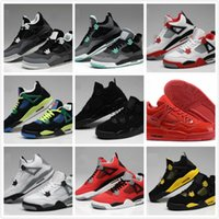 best toro bravo basketball shoes  - retro 4 toro bravo fear pack white cement men women basketball shoes sneakers 2016 bred high cut sports shoes US sizes 5.5-13