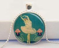 Collier dôme en verre Ballet Dancer Collier photo Swan Lake Collier Art déco Ballerina Pendentif