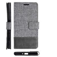 xperia silikon kılıf toptan satış-Sony xz1 kompakt xperia xaeria için deri case ultra telefon ultra cüzdan kapak flip case telefonu çanta silikon kart yuvaları standı telefon case