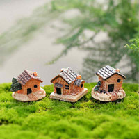 Wholesale fairy houses for sale - Group buy Miniature Resin House Small Villa The Sea of Love Fence House Handicraft Moss Terrarium Micro Landscape Ornaments Fairy Garden DIY Zakka