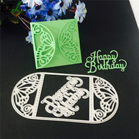Wholesale butterfly envelopes - Butterfly Envelope Metal Cutting Dies Stencil For Scrapbooking Photo Album Embossing Folder Paper Creation Decoration Party Invitation
