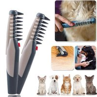 Wholesale Electric Hair Removing - Knot Out Electric Pet Grooming Comb Cats Dogs Hair Brush Pet Hair Trimmer Remove Knots Tangles Pet Shedding Tools OOA2395