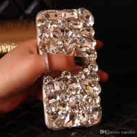Bling Crystal Rhinestone Diamond Phone Case Cover для Samsung Galaxy Note 5 4 3 2 S6 Edge Plus S5 S4 S3
