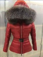 Wholesale Real Clothes Brand - M419 TATIE Brand women jacket France Brand winter coat Female Clothes real thick fox fur collar hood down jacket