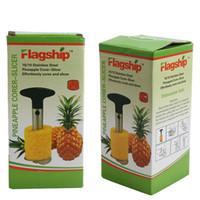 heimwerkzeugkisten großhandel-Ananas-Corer-Frucht-Aufschnitt-Schäler-Werkzeug-Neuheit-Haus hält Edelstahl-Frucht-Schäler-Schneider-Küche Einfaches Werkzeug-äußeres Messer mit Kasten an