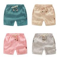 Wholesale Cargo Pants For Boys - 2-6age Summer Trousers For Boys Cotton Children Beach Capris Casual Kids Pants Harem Pants Boys