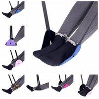 Wholesale Feet Rest - Flight Foot Hammock Carry-on Foot Rest Portable Footrest Lightweight Airplane Travel Hanging Feet Leisure Pad 7 Colors 100pcs LJJO2926