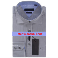 Wholesale High Collar Slim Fit Shirt - Fashion Luxury Men Shirts Long Sleeve Mens Dress Shirts Man Cotton Shirt Slim Fit Shirt Plus Size High quality Chemise Homme