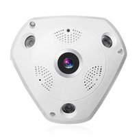 360 ° Panoramica Wireless IP Camera Audio Video WiFi 3 megapixel HD Fish-eye Lente Grande Visione notturna Visione notturna CCTV Sistema di sicurezza domestica