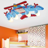 Wholesale Boy room Lighting Modern Kids Children Lights Bedroom Fixtures Flush Retro Acrylic Airplane Kids Lights Ceiling Lamp