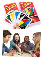 UNO Card Standard Edition 108 Playing Cards 5.6 * 8.8CM Family Fun Playing Cards Gift Box Manual Inglés Regalos de Navidad Juguetes
