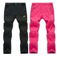 Wholesale Outdoor Pants Trekking - Wholesale-2016 New Winter Women Pants Outdoor Sports Hiking Camping Trekking Ski Thick Trousers Waterproof Windproof Warm Clothing VB001