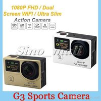 2 '' +0.95 '' Statue Screen Caméra de sport Super Wide-Angle de 170 degrés G3 WIFI 1080p 60fps Waterproof Action Camera