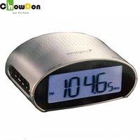 Wholesale Multi Desk Clock - ChowDon New European Timer Digital Radio Alarm Clocks Personalized Multi Use Large Screen Desk Alarm Clocks Home Gadgets Sale