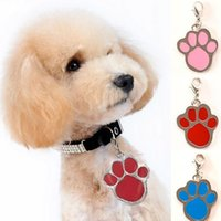 Wholesale paw pet tags - New alloy Paw prints pendant diy pendant charms Pet Tag Footprints type dog tags Pet Dog Cat ID Card Tags IB242