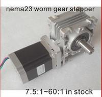 Wholesale Reducer Motor - NEMA23 Worm Gear Stepper Motor 250oz-in Motor Length 76mm CE ROHS Nema 23 Gear Stepper Motor Worm Reducer