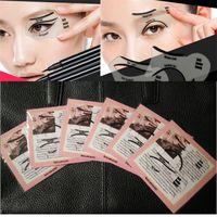 Wholesale Eyebrow Template Tool - Smokey eye look Cat Eye & Smokey Eye Makeup Eyeliner Models Template Top Bottom Eyeliner Card Auxiliary Tools Eyebrows Stencils H049