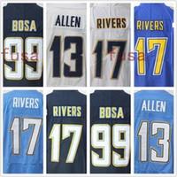 Wholesale Rivers Blue - Men Stitched 17 Philip Rivers jersey Color Rush Legend Light Blue Elite 99 Joey Bosa 13 Keenan Allen Embroidery Jerseys