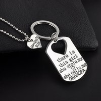 Discount carabiner key chain compass - 2 Pcs\set pendant necklace an keychains Splice Heart Key Chain Family Members Letters Love Keychain Car keychain friendship Gifts