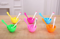 Wholesale diy facial mask set for sale - Group buy 4 In DIY Facial Beauty Mask Bowl Cosmetic Tool Mixing Spong Brush With Stick Brush Set For Women
