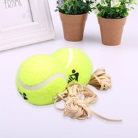 Wholesale Tennis Balls Elastic - Wholesale- 3 Pcs Sports Table Tennis Training Ball With Elastic Rubber Rope Beginners Train Tool for Club School Training Environmental