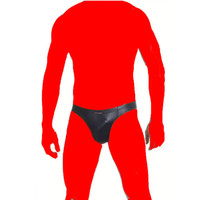 бесплатное белье трусы мужчины оптовых-Мужской сексуальное женское белье кожа Underwear прохладный трусики для мужчин Бесплатная доставка блестящий клуб одежда клубная одежда черный Vinly латекс трусы
