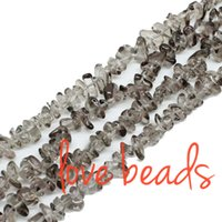 Wholesale Pink Gravel - Fashion Light Grey Glass Irregular Gravel Beads Freeform Chips Loose Beads 33'' Strand Jewelry Bracelet Making DIY(F00282) wholesale