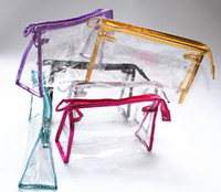 Wholesale Bag Articles - Fashion Transparent Beauty Bags Waterproof Oblong Shape Large Capacity Cosmetic Bag For Travel Portable Storage Articles 2 8yh C R