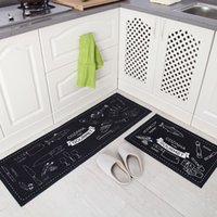 Wonderful 100% Polyester Stripe Outdoor 1Setu003d2PCS Polyester Long Kitchen Mat Set  Anti Slip