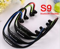 Wholesale I4 Wireless Stereo Bluetooth Headset - New Bluetooth Headphone S9 Wireless Stereo Headset Sports Bluetooth Earphone Bluetooth In-Ear Sport Earphone For i6 6S i5 i4 Galaxy S6 Note5
